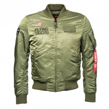 Alpha Industries MA-1 VF Mens Flying Tigers Jacket