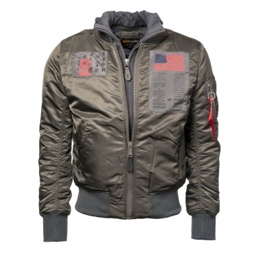 Alpha Industries Mens MA-1 D-Tec Blood Chit Jacket