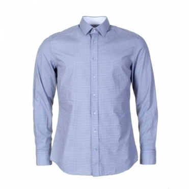 Blue Circle Print Mens Shirt