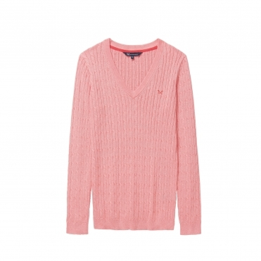 Crew Clothing Heritage Cable Womens Jumper S/S 18