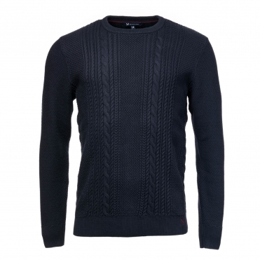 Crew Clothing Mens Cable Crew Neck