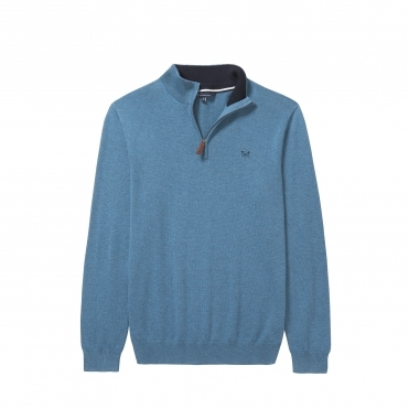 Crew Clothing Mens Classic 1/2 Zip Knitwear S/S 18