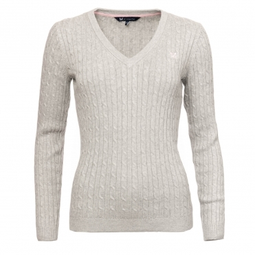 Crew Clothing Womens Heritage Cable Jumper WLD001