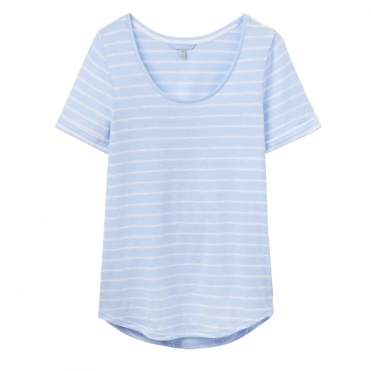 Daily Luxe Jersey Stripe Ladies T-Shirt (W)