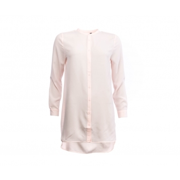 French Connection Class Crepe Light Ls Collarless Shirt