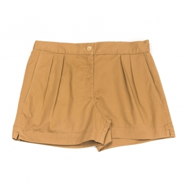French Connection Collman Cotton Pleat Womens Shorts