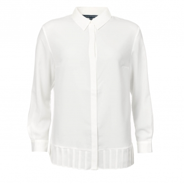 French Connection Crepe Light Pleat Womens Shirt