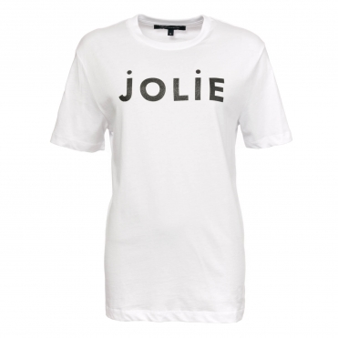 French Connection Jolie Sslv Glitter Womens Tee