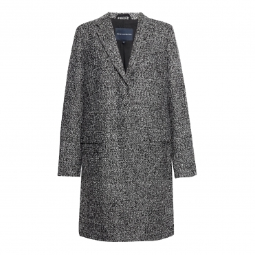 French Connection Pf Beverly Single Breasted Womens Tweed Coat