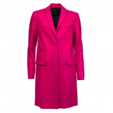 French Connection Platform Felt Smart Womens Coat