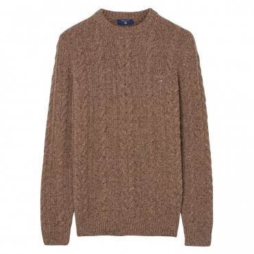 GANT Donegal Cable Crew Mens Sweater