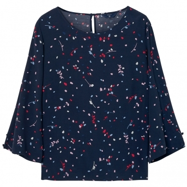 GANT Fall Leaves Printed Womens Top