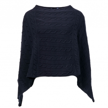 GANT Lambswool Cable Womens Poncho