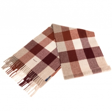 GANT Multicheck Lambswool Womens Scarf