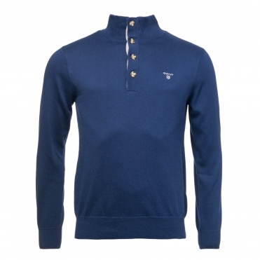 GANT Sporty Cotton Mockneck Mens Sweater