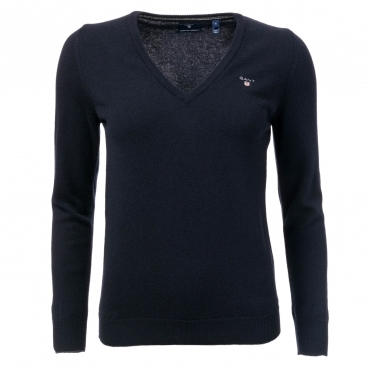 GANT Superfine Lambswool V-Neck Womens Jumper