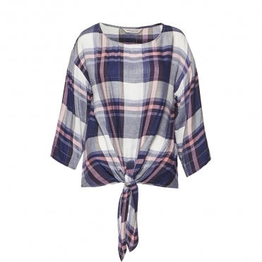 Great Plains Charlotte Check Knot Detail Womens Top