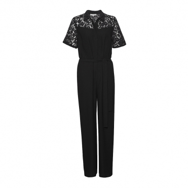 Great Plains Liz Lace Belted Womens Jumpsuit