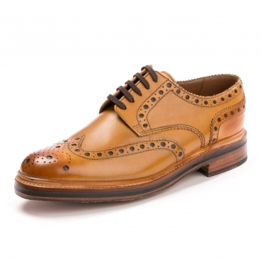 Grenson Archie Brogue Tan Mens Shoe