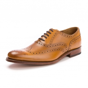 Grenson Dylan Calf Tan Mens Brogue