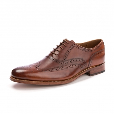 Grenson Dylan Handpainted Tan Mens Brogue