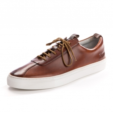 Grenson Sneaker 1 Handpainted Tan Mens Trainer