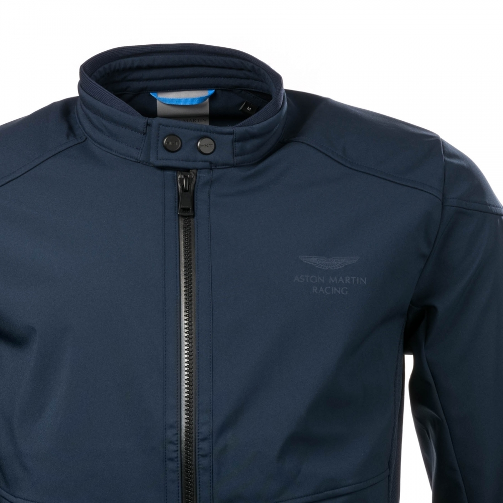 Hackett Hackett Aston Martin Racing Softshell Moto Mens Jacket | aston martin shirt hackett