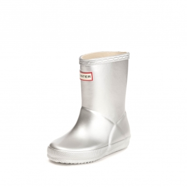 Hunter Kids First Classic Metal Wellington Boots