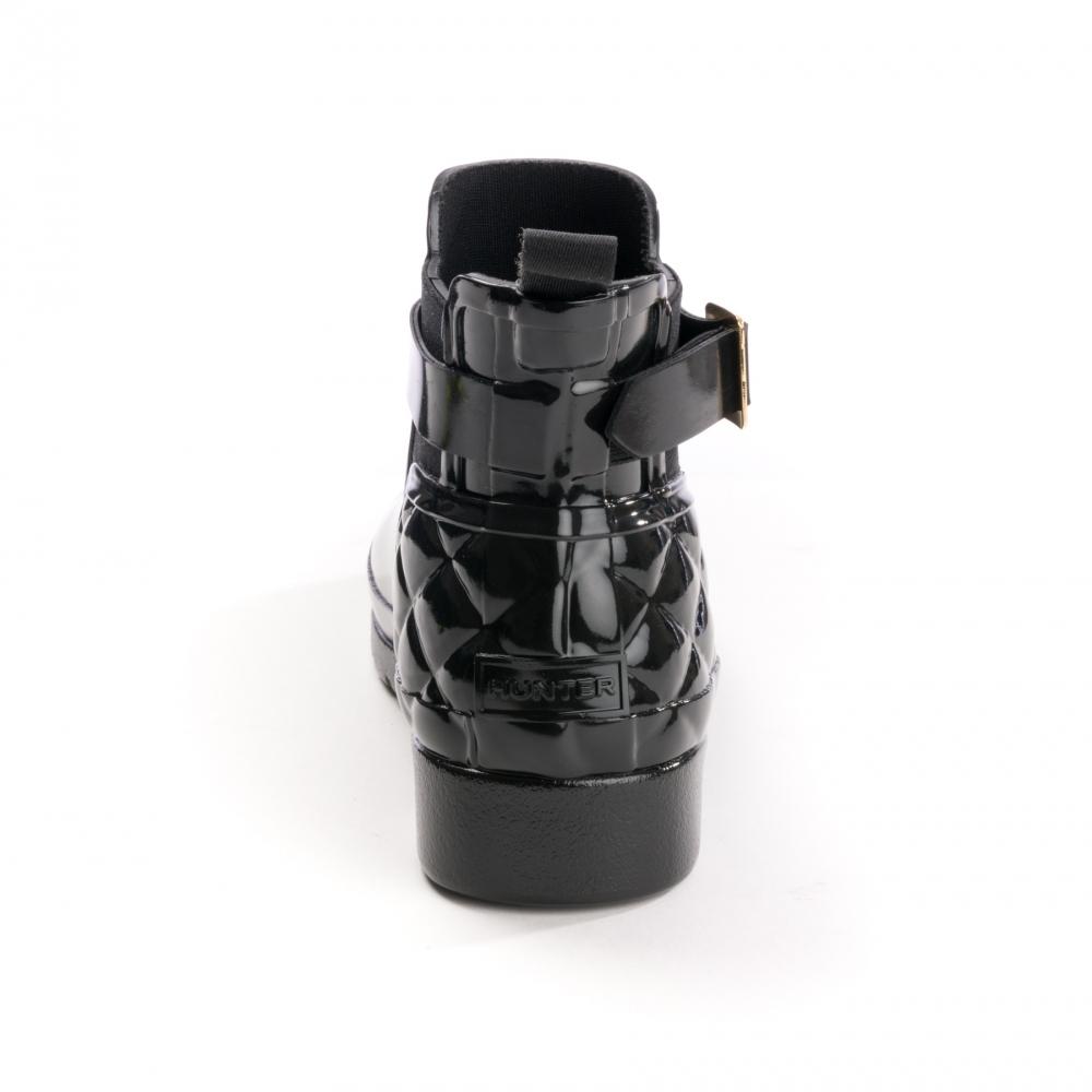 1c5cc3476b99b3 Hunter Refined Gloss Quilted Chelsea Stiefel für Frauen - Schuhe ...