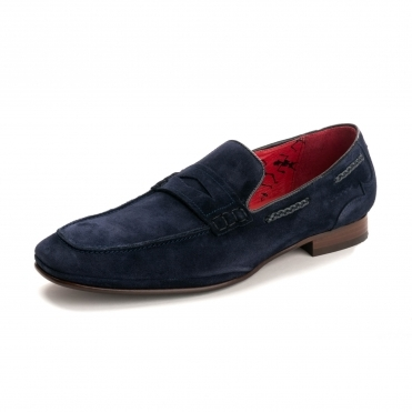 Jeffery West KO92 Martini Navy Velour Suede