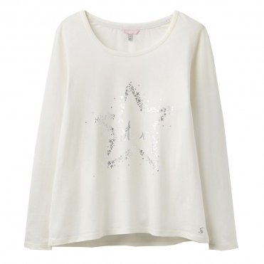 Joules Aubree Long Sleeve Graphic Womens Pj Top (Z)
