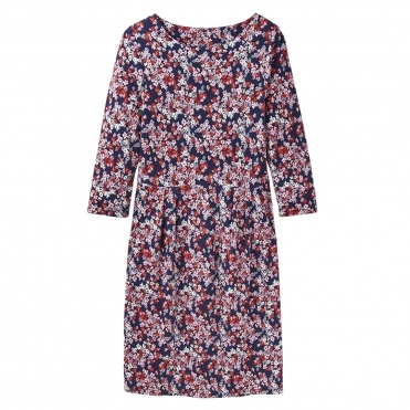 Joules Beth Womens Jersey Dress With 3/4 Length Sleeves S/S 19