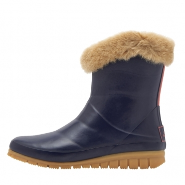 Joules Chilton Premium Short Fur Cuff Womens Welly (Y)