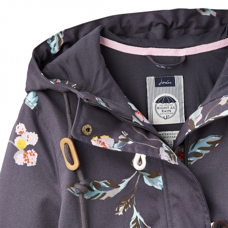 2044386aa Joules Coastprint Womens Printed Waterproof Jacket S/S 19 - Damen ...