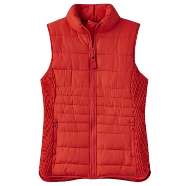 Joules Fallow Padded Womens Gilet With Funnel Neck (Z)