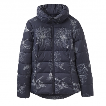 Joules Florian Printed Padded Womens Coat (X)