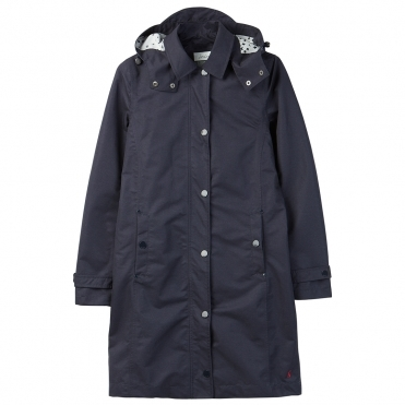 Joules Headland Womens A-Line Raincoat With Removable Hood A/W 19