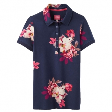 Joules Pippa Printed Womens Polo Shirt (Z)