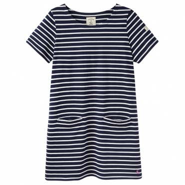 Joules Quinn Womens Short Sleeve Simple Tunic With Front Pockets S/S 19