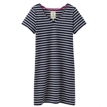 Joules Riviera V Neck Womens Jersey Dress S/S 19