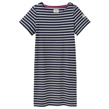 Joules Riviera Womens Printed Dress With Short Sleeves S/S 19