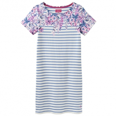 Joules Rivieraprint Womens Printed Dress With Short Sleeves S/S 19