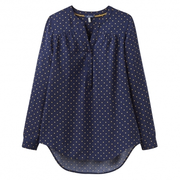 Joules Rosamund Pop Over Womens Blouse With Gathers (Z)