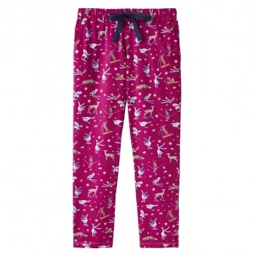 Joules Snooze Long Woven Womens Pj Bottom With Lace Detail (Z)
