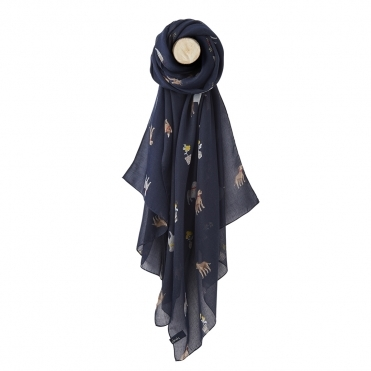 Joules Wensley Womens Printed Scarf S/S 19