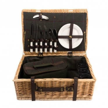 Joules Wicker Picnic Basket Contents For 4 People S/S 19