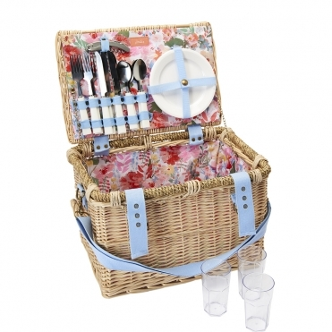 Joules Wicker Picnic Basket Fabric Lining S/S 19