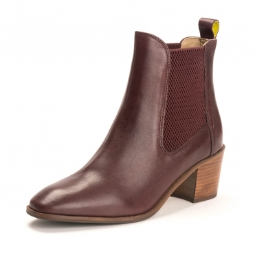 Joules Womens Heeled Leather Boot A/W 19