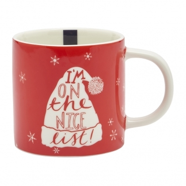 Joules Xmascuppa Porcelain Mug With Printed Christmas Dec (Z)