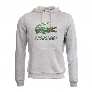 Lacoste Mens Hooded Sweat Logo Top SH6342-00